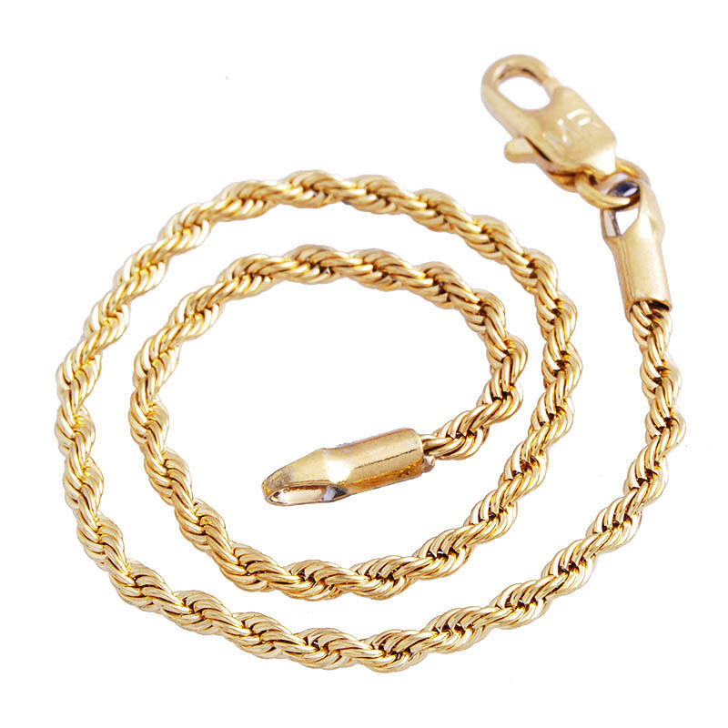 Popular Bangle Bracelets: Fashion Popular Women Chic Bracelet Rope Chain 14k Gold