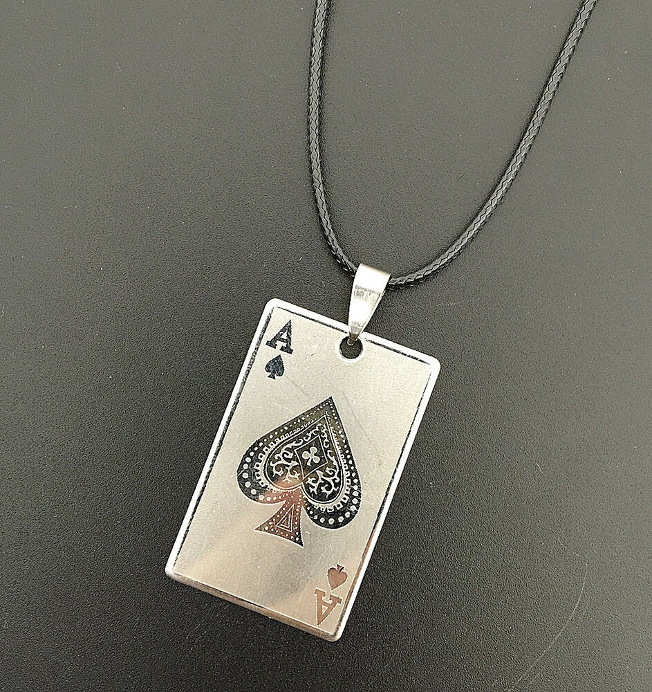 of spades jewelry cards ace of spades pendant stainless steel 834