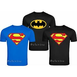 Kyпить  BATMAN & SUPERMAN shirt men's size Classic LOGO ADULT T-SHIRT  на еВаy.соm