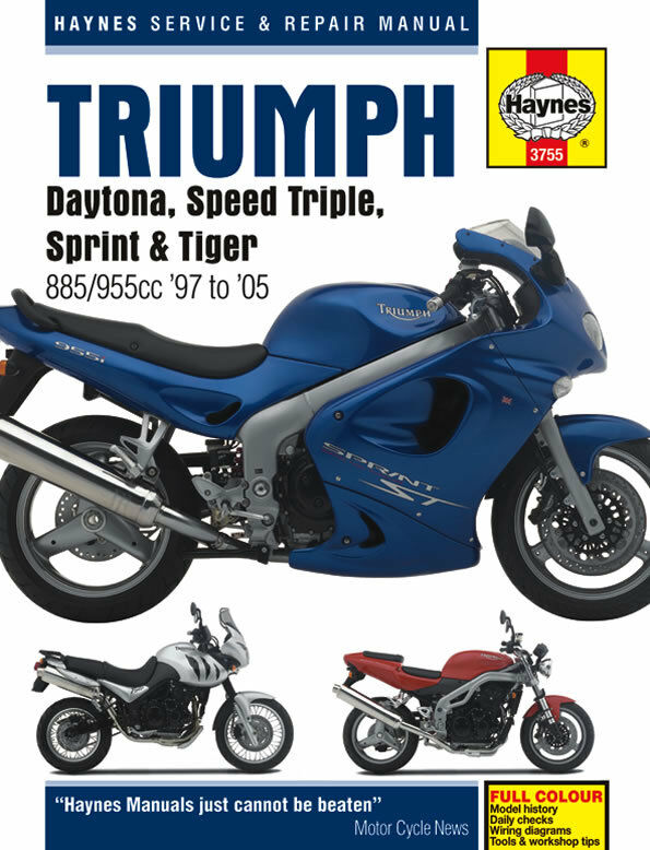 1997 2005 triumph daytona speed triple sprint tiger haynes repair rh ebay com Triumph Speed Triple 0-60 Time Triumph Speed Triple R