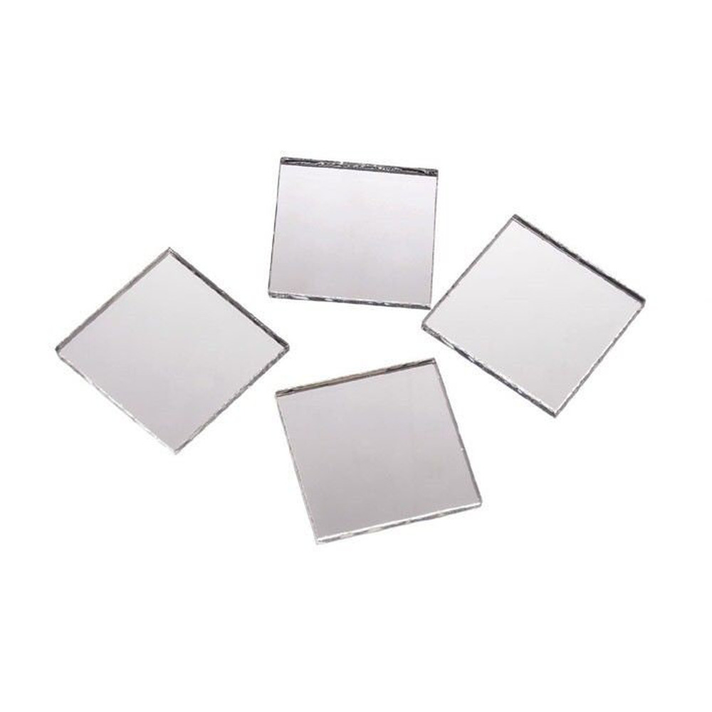 2 inch glass craft mini square mirrors 12 pieces square for Craft mosaic tiles bulk