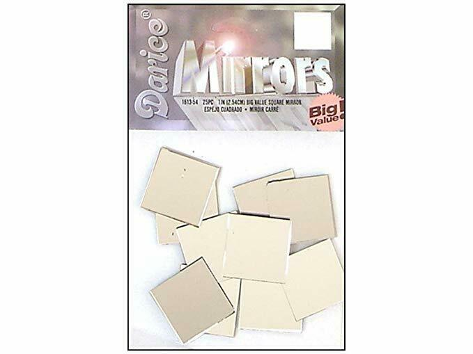 1 Inch Glass Craft Mini Square Mirrors 25 Pieces Small