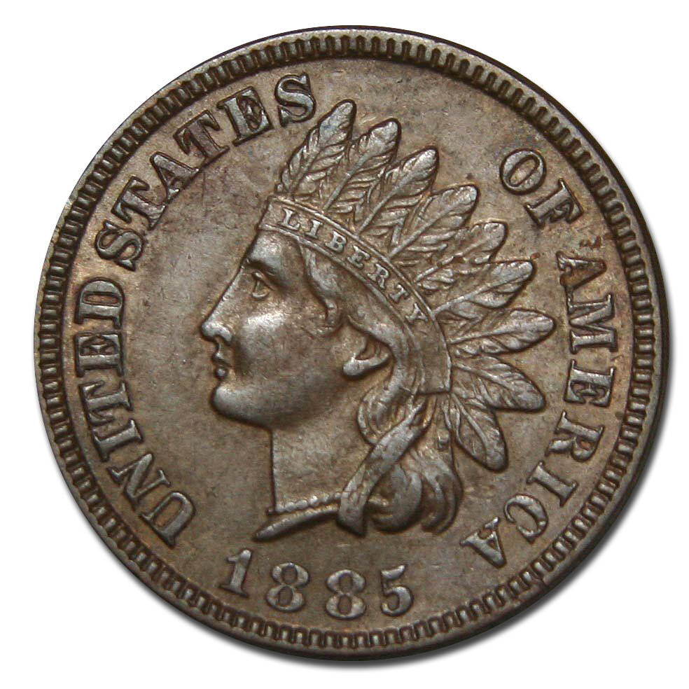 1885 One Cent Indian Head Penny Coin Lot Mz 2246 Ebay