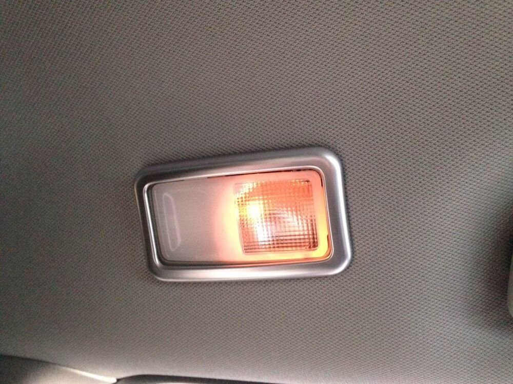 interior rear reading light lamp cover trim 4pcs for toyota sienna 2011 2016 ebay. Black Bedroom Furniture Sets. Home Design Ideas