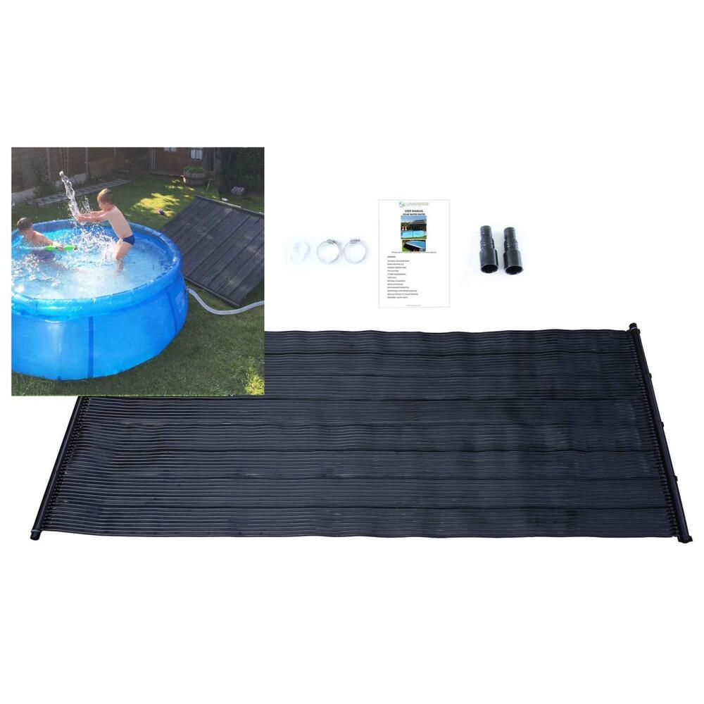 Solar swimming pool heater hot water mat sun heating kit - Solar powered swimming pool heater ...