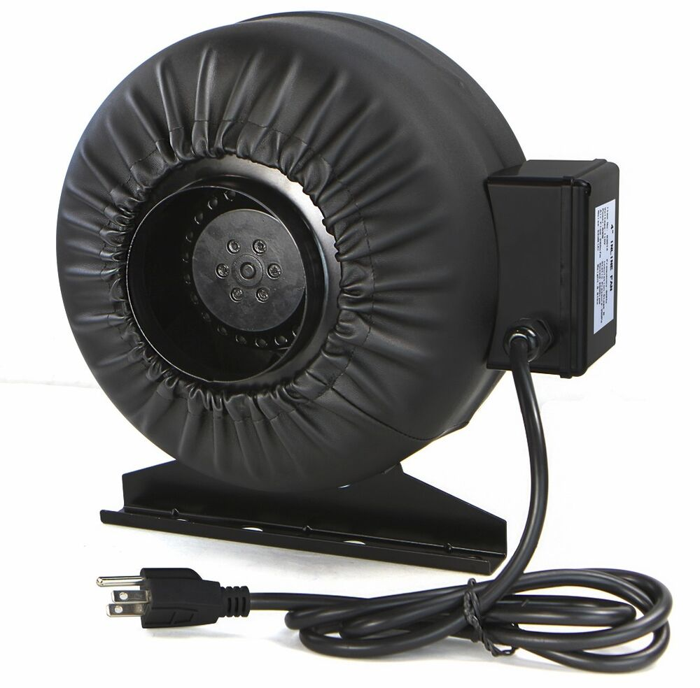 4 Inch Inline Fan : Strong cfm quot inch inline fan hydroponics exhaust