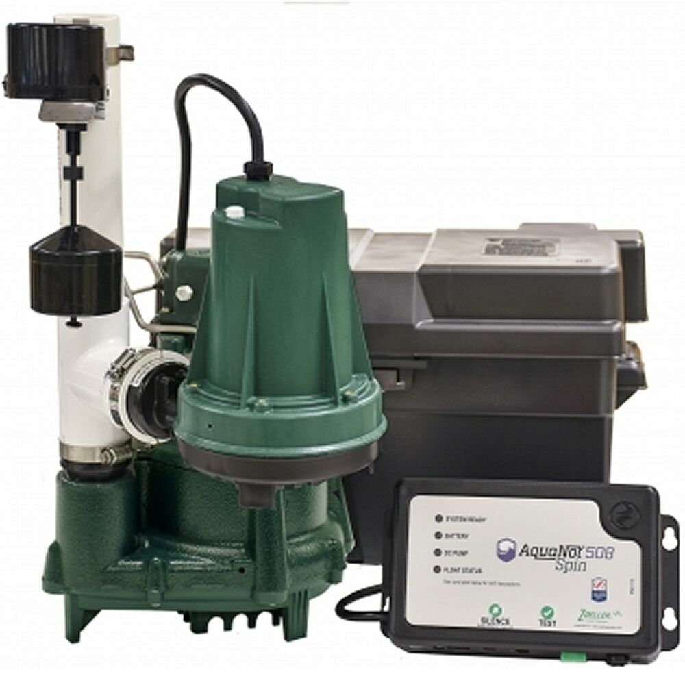 zoeller propack98 1 2 hp combination primary backup sump pump