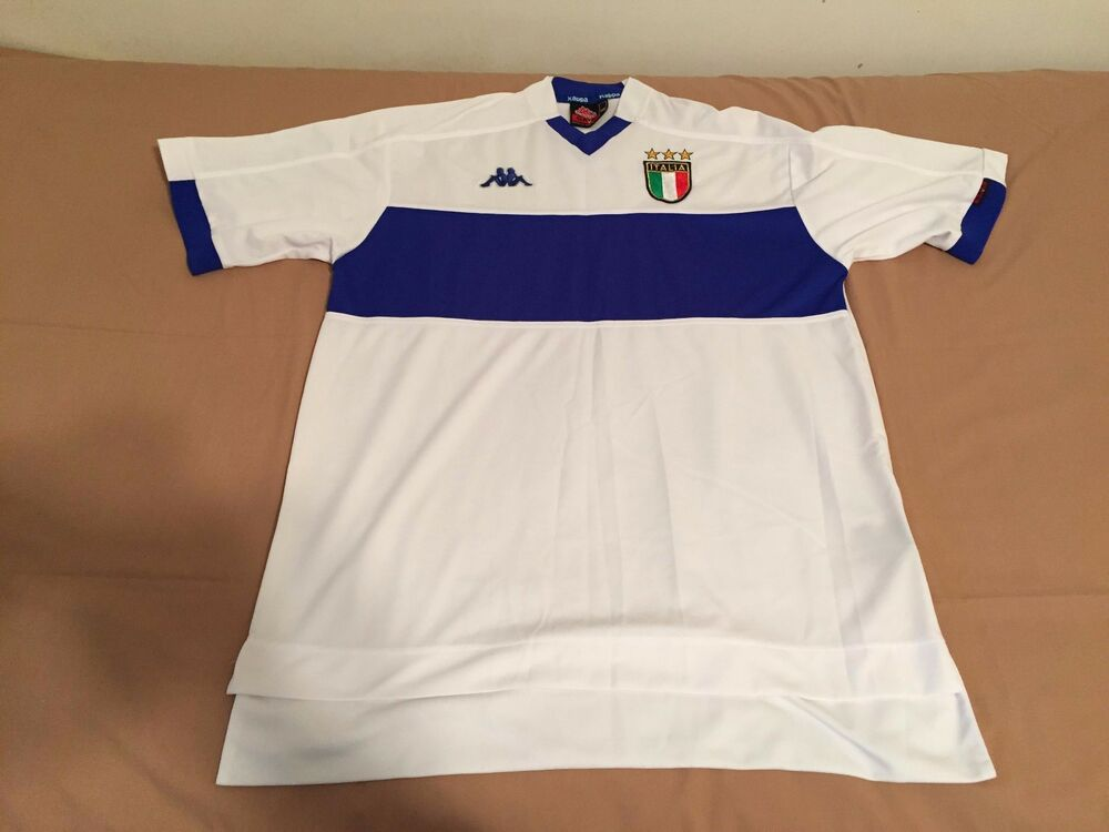 99013e555 1999-2000 Italy Kappa Away Short Sleeve (SS) Jersey
