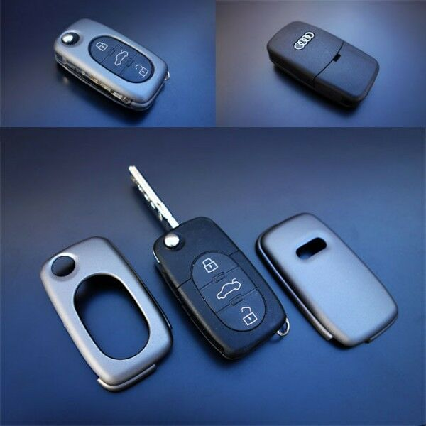 Early Audi Remote Flip Key Cover Case Skin Shell Cap Fob Protection S Line Grey | eBay