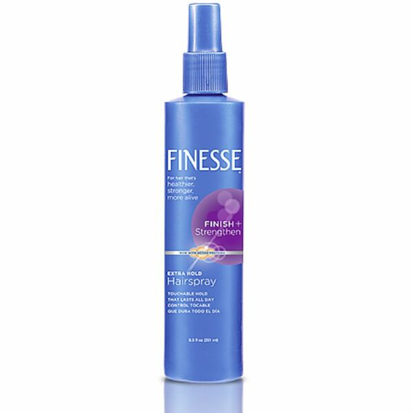 Finesse Finish + Strengthen, Extra Hold Hairspray 8.50 oz (Pack of 8)