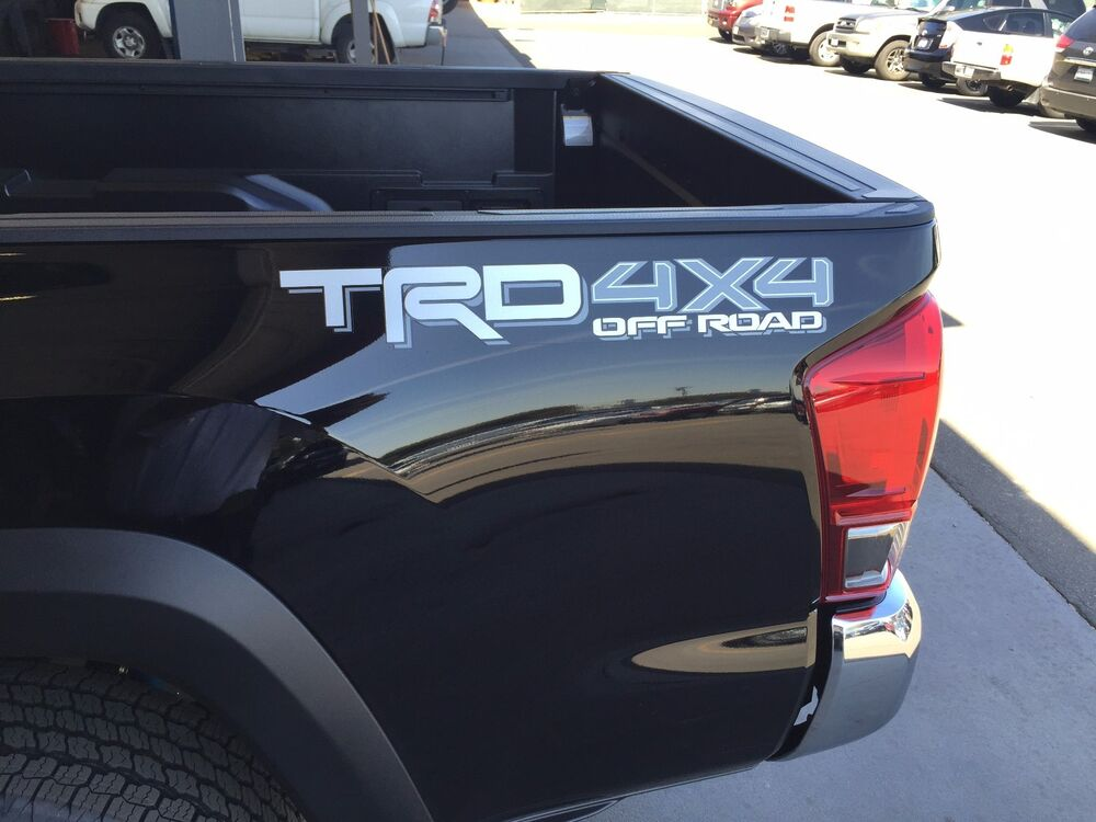 Toyota Tacoma 4x4 2018 >> Tacoma TRD 4X4 Off-Road bedside decal Silver/Gray 75996-0C080-A3 Genuine OEM | eBay