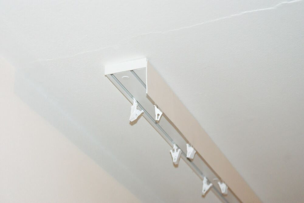 Double Curtain Rail Track Ceiling Pvc With Front Cover