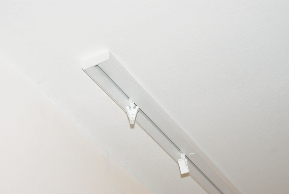 Single Curtain Rail Track Ceiling Pvc Clips Or Hooks
