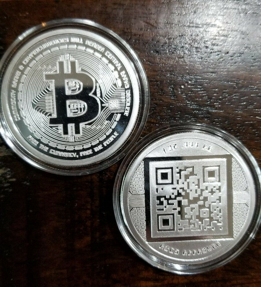 Bitcoin Proof 1 Oz 999 Fine Silver Commemorative Aocs