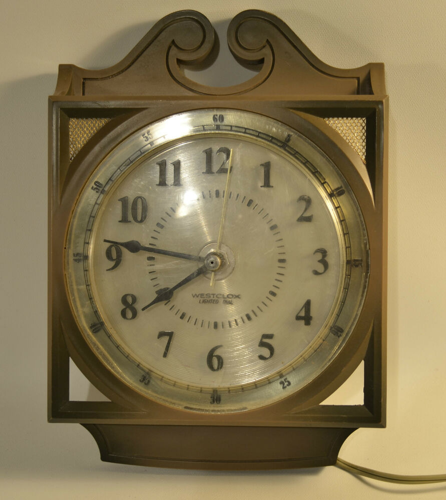 Vintage Westclox Electric Lighted Dual Wall Clock Ebay