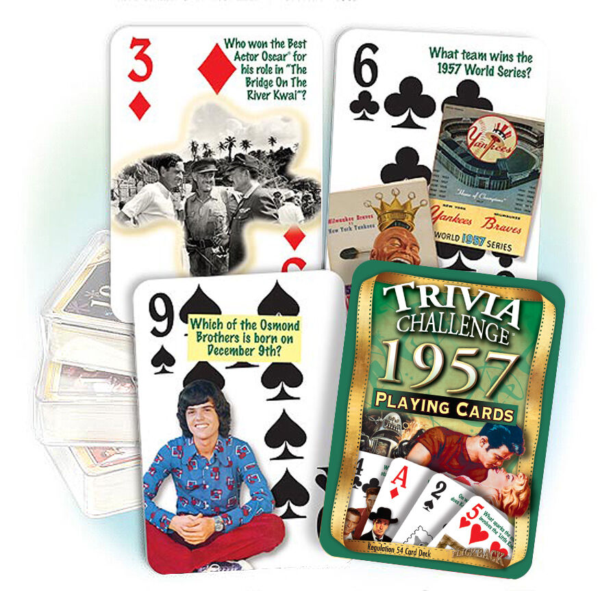 1957 Trivia Playing Cards: 60th Birthday Or Anniversary Gift