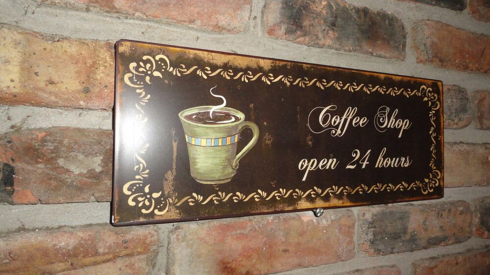 Mother's Day Gifts, Coffee Shop, Tin Metal Sign, Wall