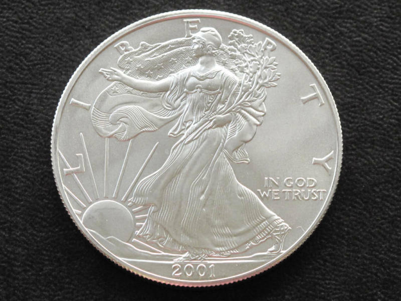 2001 Liberty Walking American Silver Eagle Dollar Coin Ebay