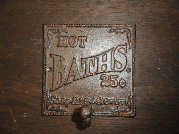 Antique Style Cast Iron Towel Hook Wall Decor Sign