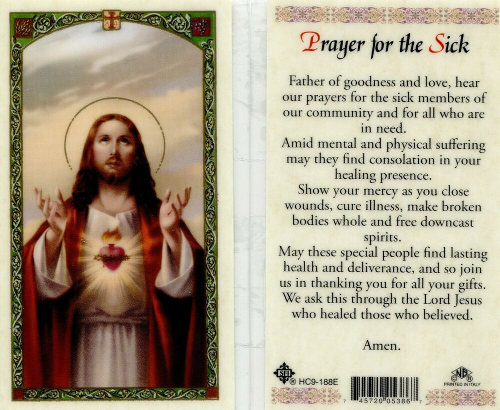 Prayer for the Sick and Suffering Card Father Hear Our ...