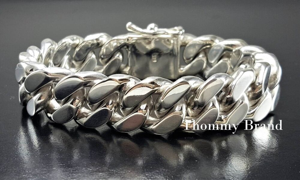 8 5 Quot 136g Mens Heavy Wide Cuban Curb Chain Link Sterling