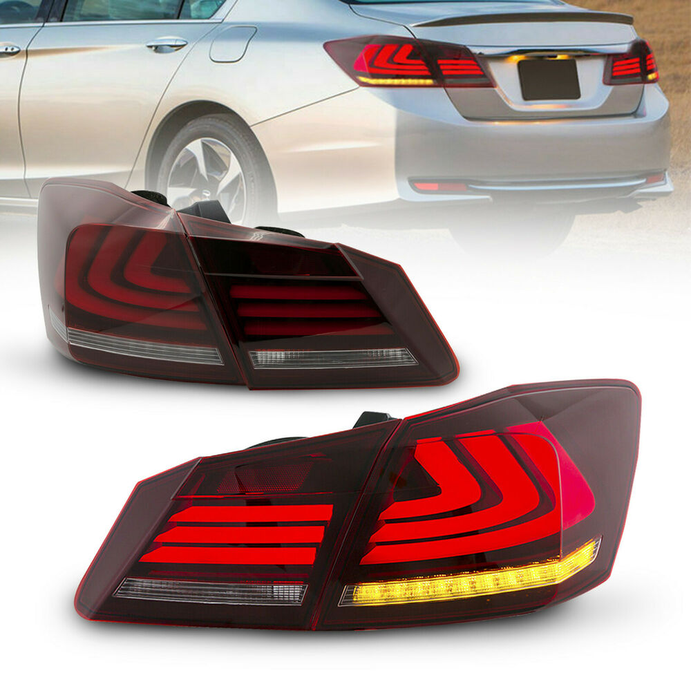 Honda Accord 2015 Pictures: Red Clear LED Brake Tail Lights For 2013-2015 Honda Accord