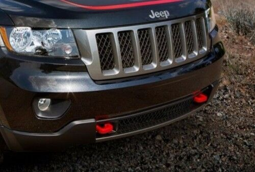11 13 jeep grand cherokee new red front tow hook hooks set of 2 mopar factory oe ebay. Black Bedroom Furniture Sets. Home Design Ideas