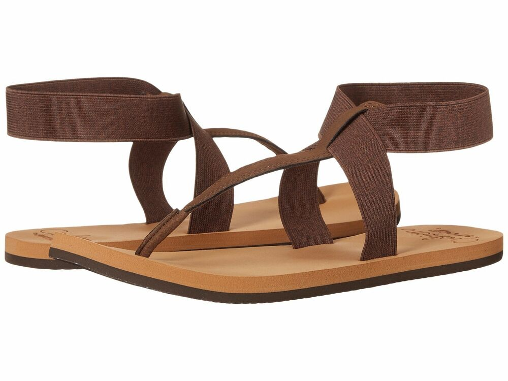 Elegant Womens Reef Fanning Lux Brown Coral Toe Post Sandals Flip Flops Sz Size | EBay