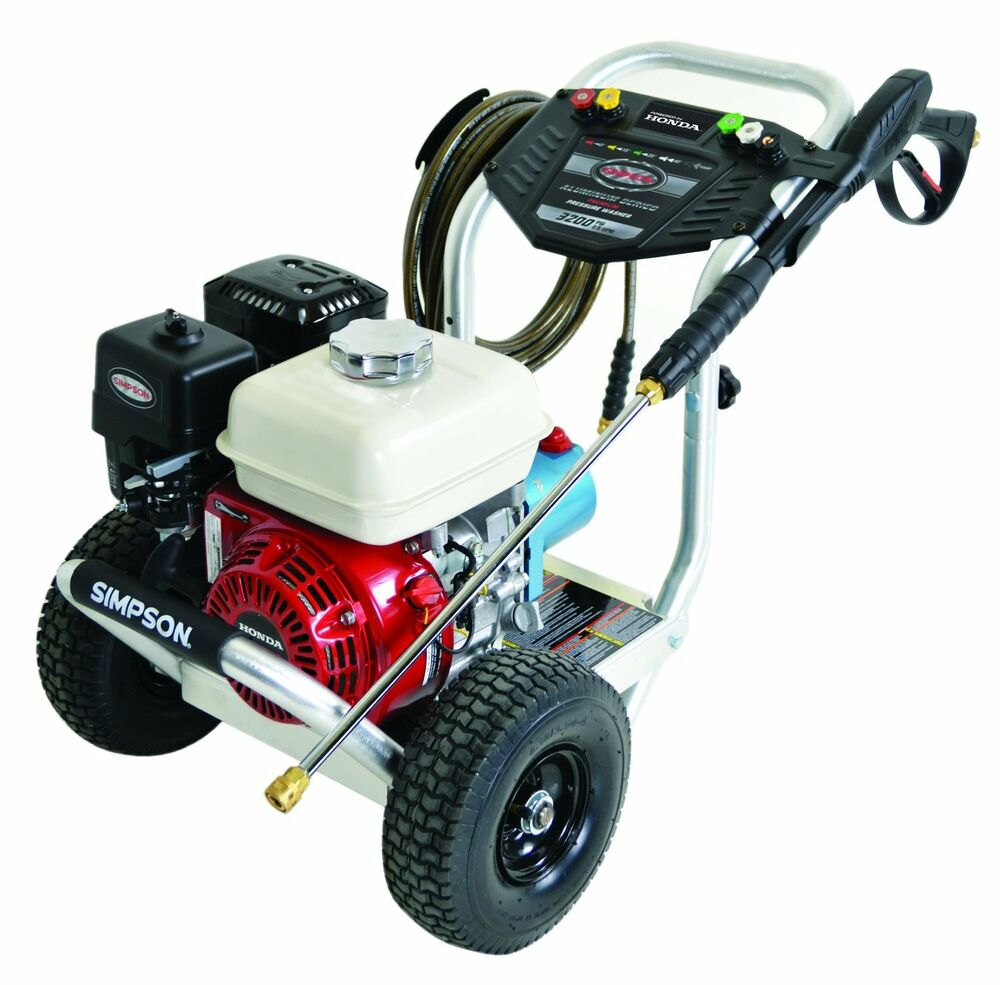 simpson 3200 psi 2 8 gpm gas pressure washer honda engine