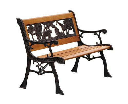 outdoor childrens animal wood park bench new kid 39 s seat deck patio porch metal ebay. Black Bedroom Furniture Sets. Home Design Ideas