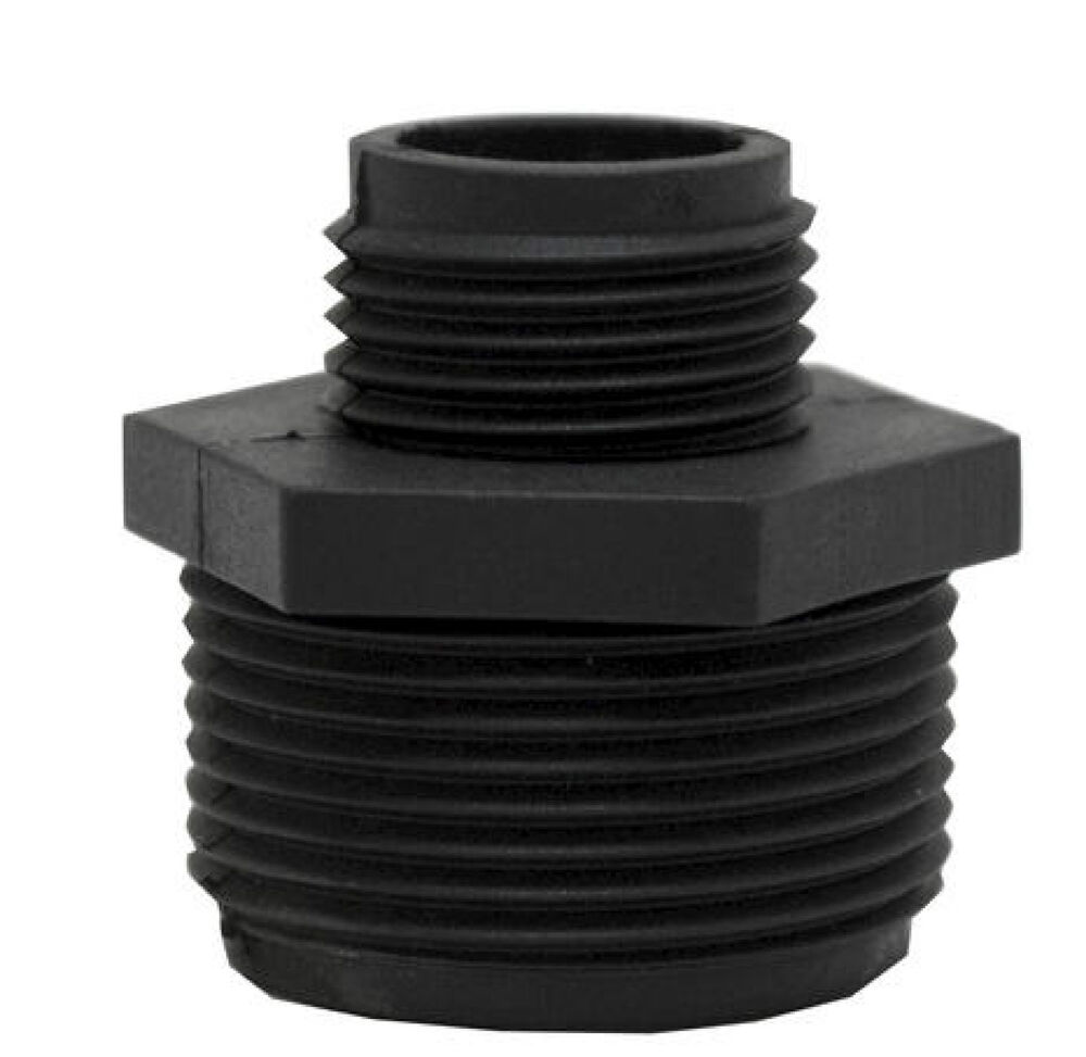 sump pump garden hose adapter abs plastic 1 1 4 mip x male to 3 4 mip male 005 ebay