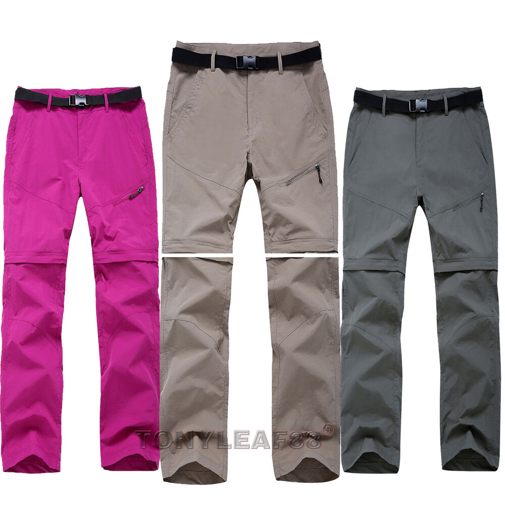 Womens quick dry zip off leg pants shorts outdoor hiking for Womens fishing shorts