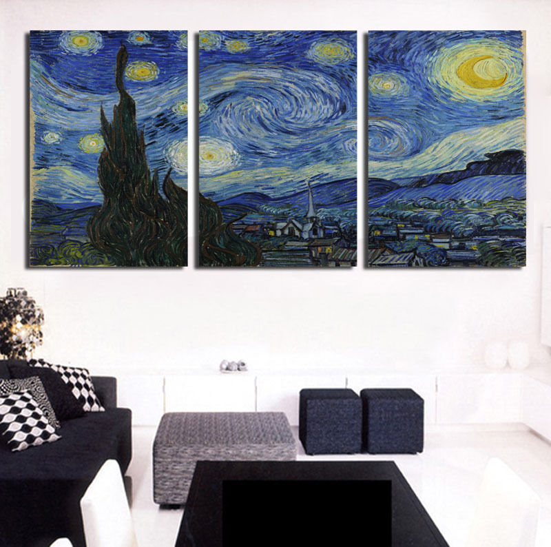 Van Gogh Starry Night Canvas Print Painting Abstract Art