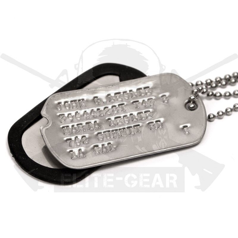 Pair Military Custom Made Stainless Dog/Toe Tags WWII