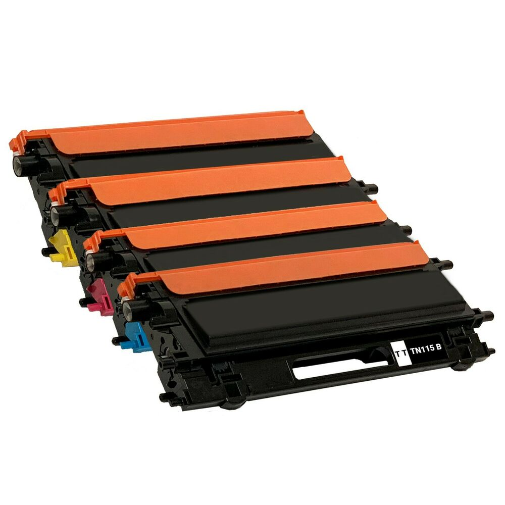 set of 4 tn115 bcmy laser toner for brother mfc 9440cn mfc 9450cdn mfc 9840cdw ebay. Black Bedroom Furniture Sets. Home Design Ideas