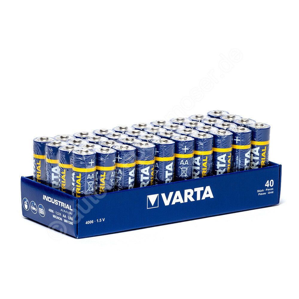 40x mignon aa lr6 batterie alkaline varta industrial 4006 1 5v 2950 mah ebay. Black Bedroom Furniture Sets. Home Design Ideas