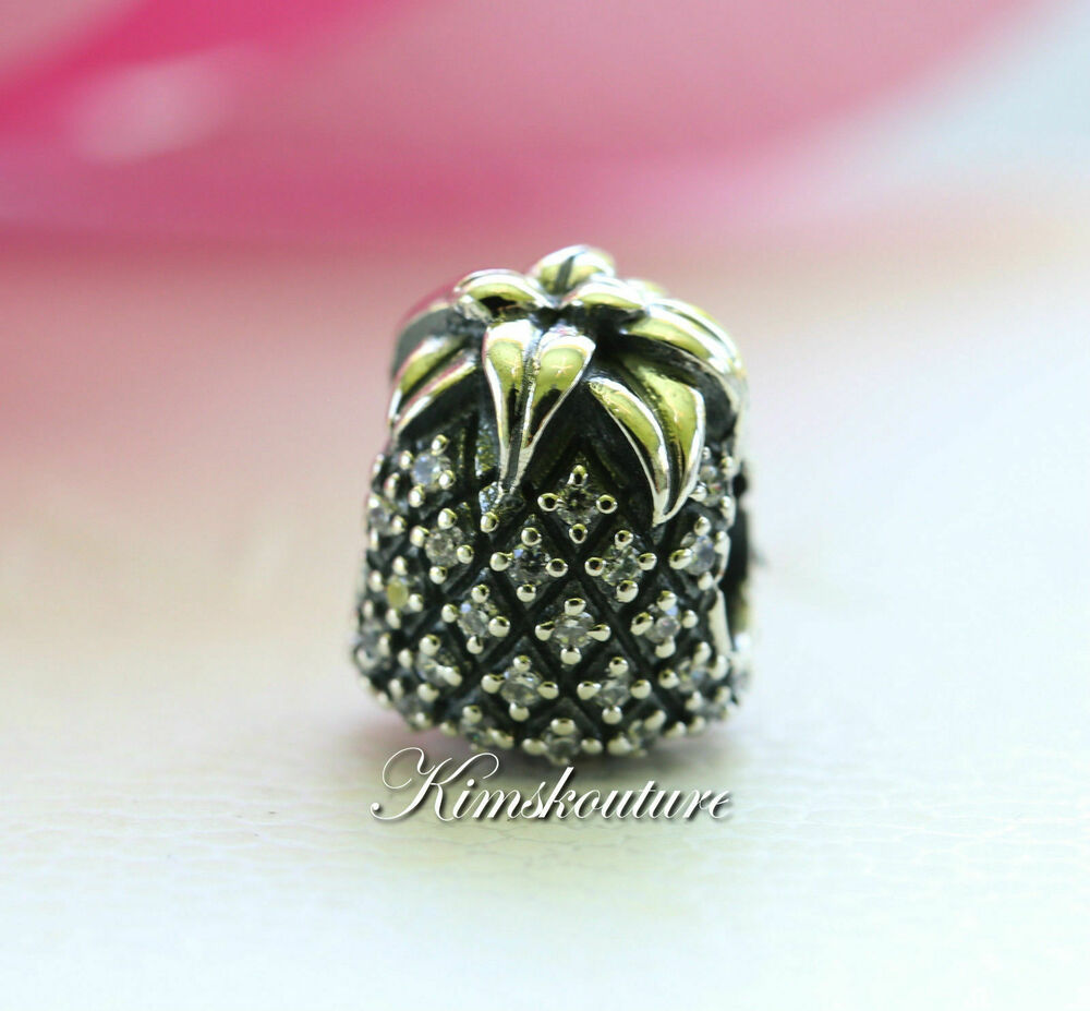Authentic Pandora Charm Sparkling Pineapple  791293cz