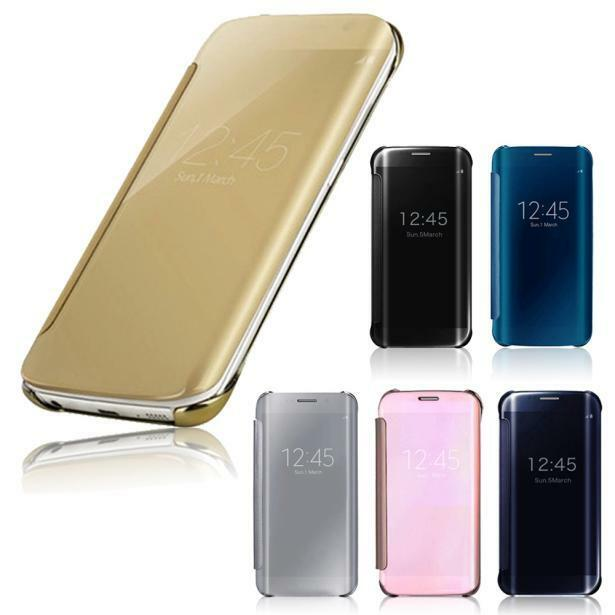 Luxury Clear View Mirror Flip Smart Case Cover For Samsung ...