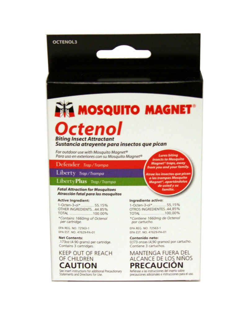 mosquito magnet octenol attractant refill cartridge 3 pack new ebay. Black Bedroom Furniture Sets. Home Design Ideas