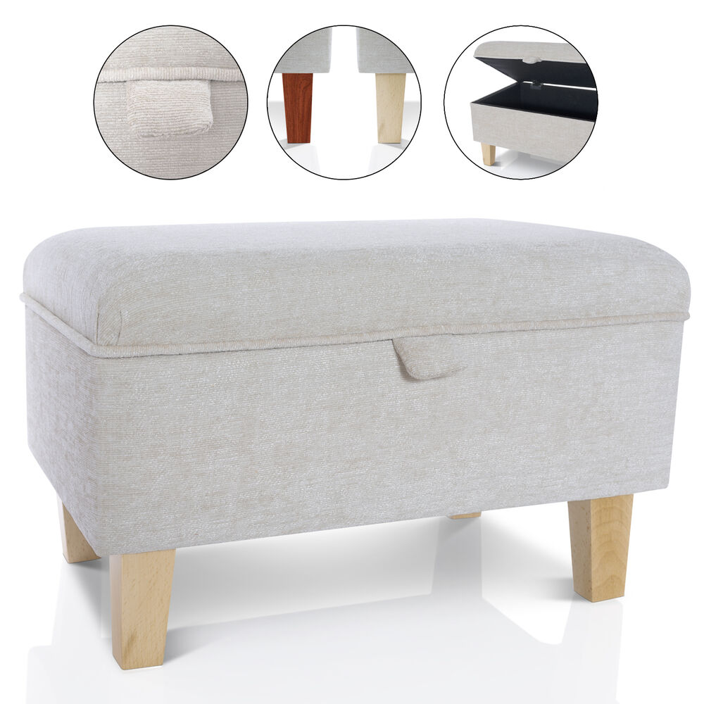 Storage Footstool Ottoman Blanket Box Seat Pouffe Toy