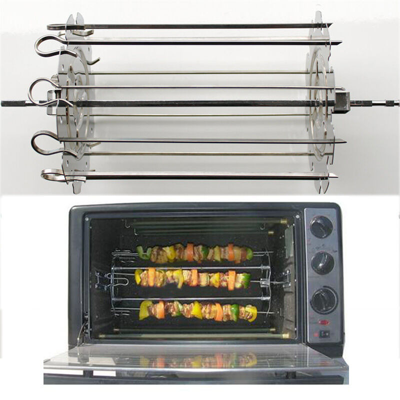 stainless steel grill roaster drum bbq rotisserie ovenware kebob skewers roast ebay. Black Bedroom Furniture Sets. Home Design Ideas