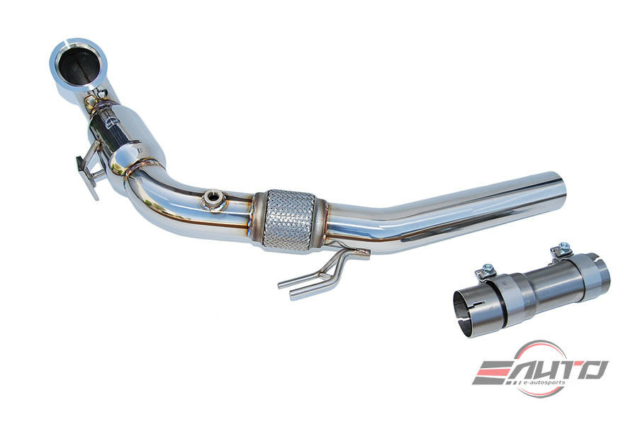 invidia 76mm high flow cat downpipe down pipe for gti mk7. Black Bedroom Furniture Sets. Home Design Ideas
