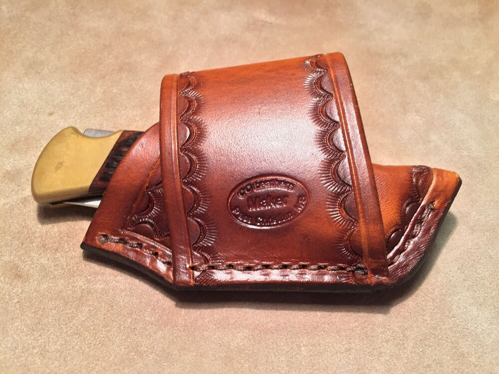 Custom Leather Crossdraw Sheath for BUCK 110/112 Knife | eBay