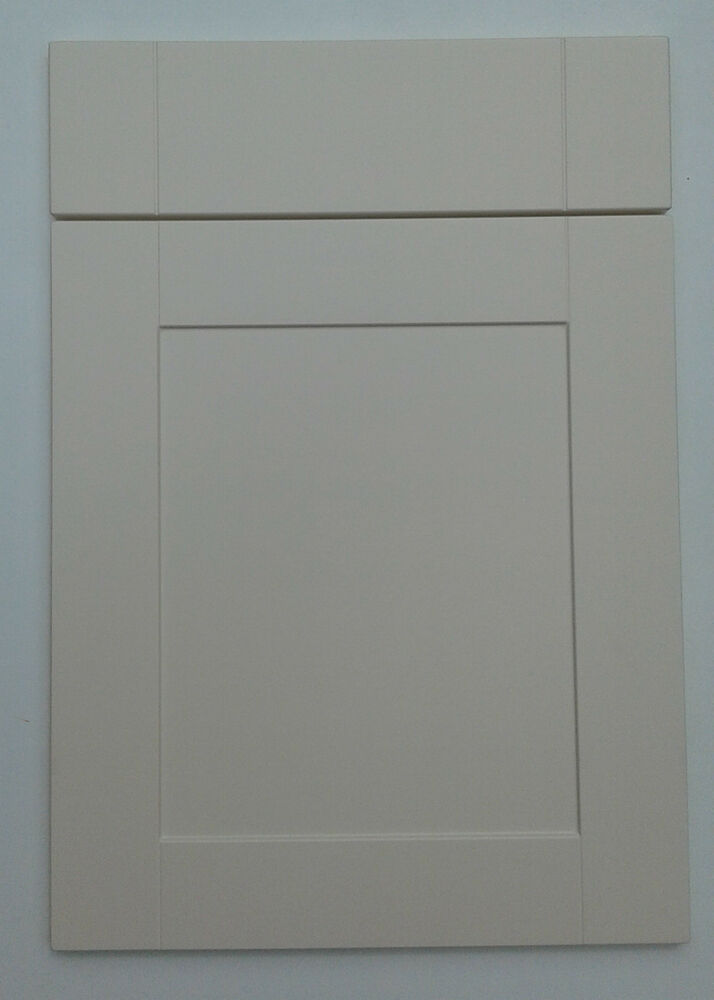 Replacement new matt cream shaker fitted kitchen unit for Replacement kitchen unit doors