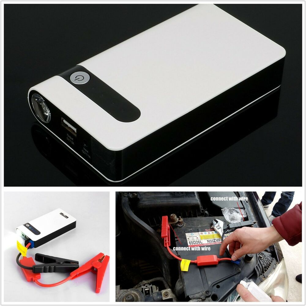 12v 10000mah portable jump starter pack car battery charger power bank led light ebay. Black Bedroom Furniture Sets. Home Design Ideas