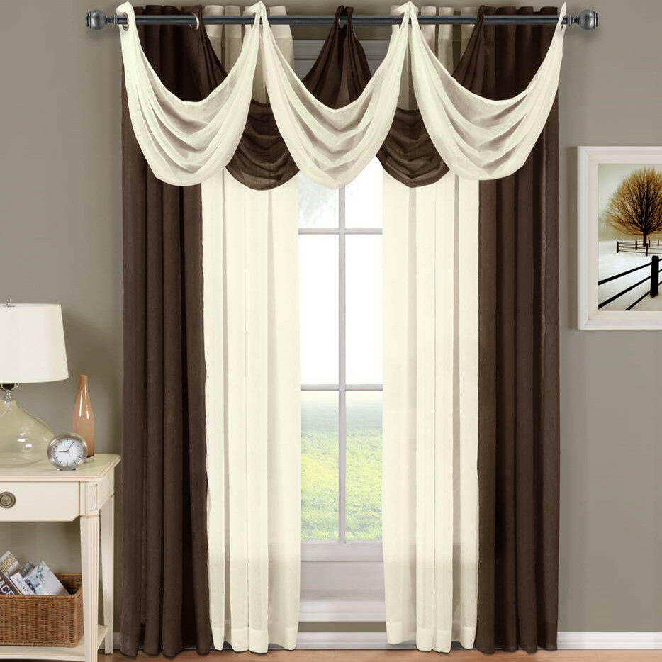 Abri Grommet Crushed Sheer Curtain Panel Window Treatment
