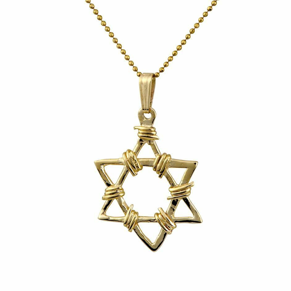 14k yellow gold star of david bar mitzvah gift judaica men for Star of david necklace mens jewelry