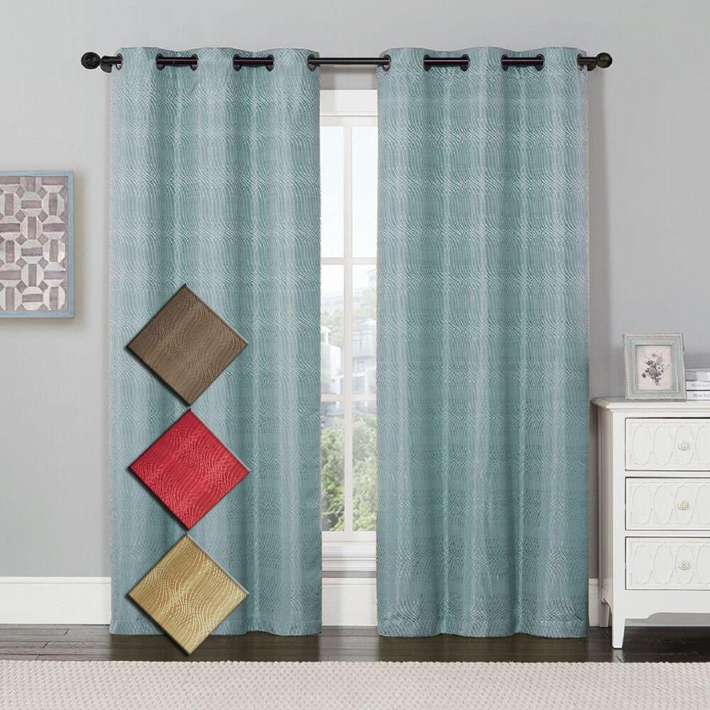 Murry Jacquard Thermal-Insulated Blackout Curtain 76 X 84