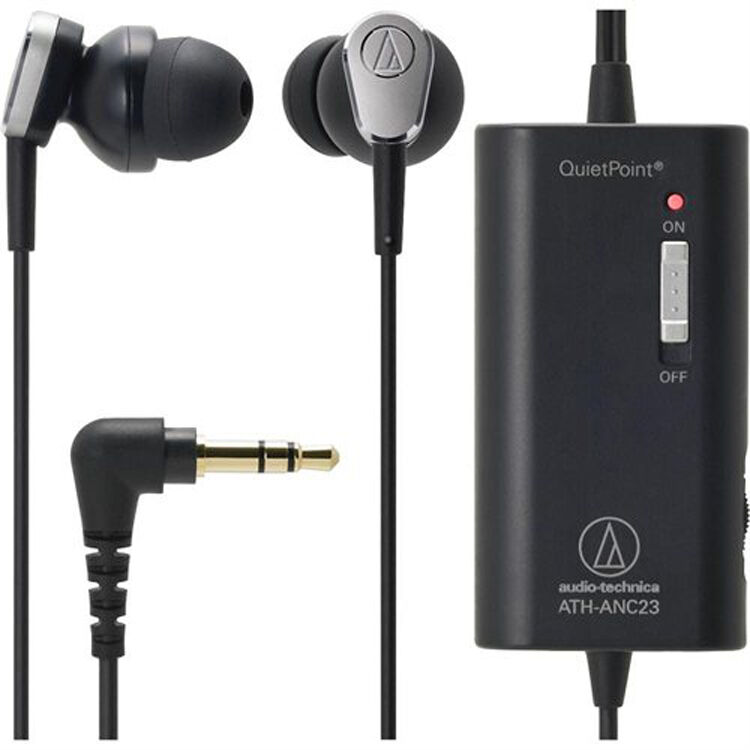 8bf2a910f63 Details about Audio-Technica ATH-ANC23 QuietPoint Active Noise-Cancelling  In-Ear Headphones