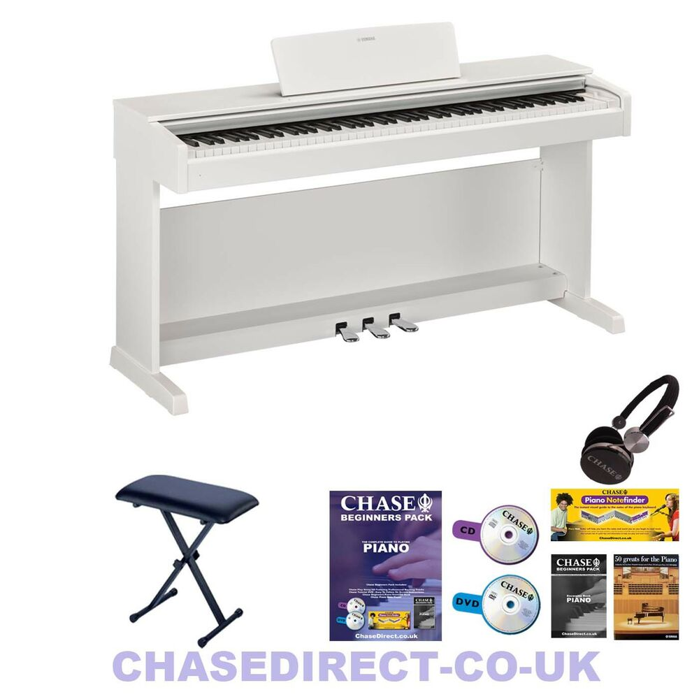 yamaha arius ydp 143 digital electric piano white 88 fully weighted keyboard ebay. Black Bedroom Furniture Sets. Home Design Ideas